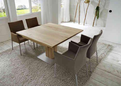Esstische rund quadratisch ausziehbar for Design esstisch vollholz