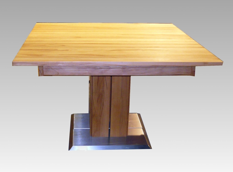 e tisch simon in eiche quadratisch. Black Bedroom Furniture Sets. Home Design Ideas