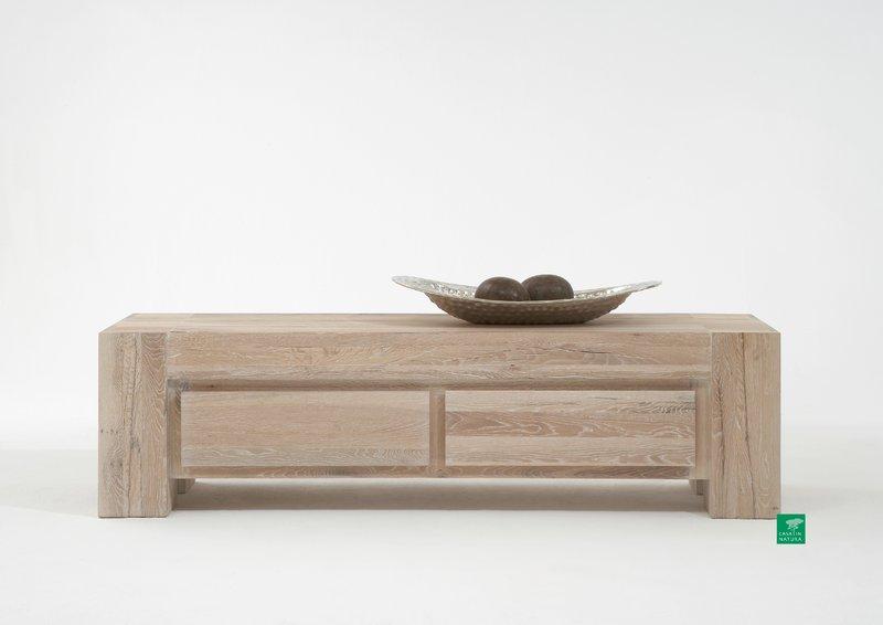 tv bank lowboard boston 180x50x50cm eiche wei ge lt bestellen. Black Bedroom Furniture Sets. Home Design Ideas