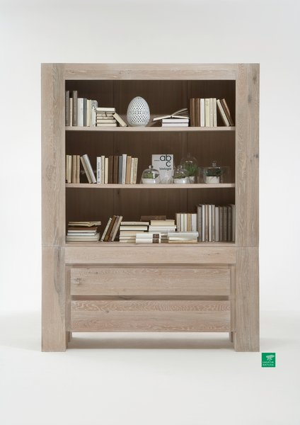 regal boston 165x220x50cm eiche wei ge lt casa innatura. Black Bedroom Furniture Sets. Home Design Ideas