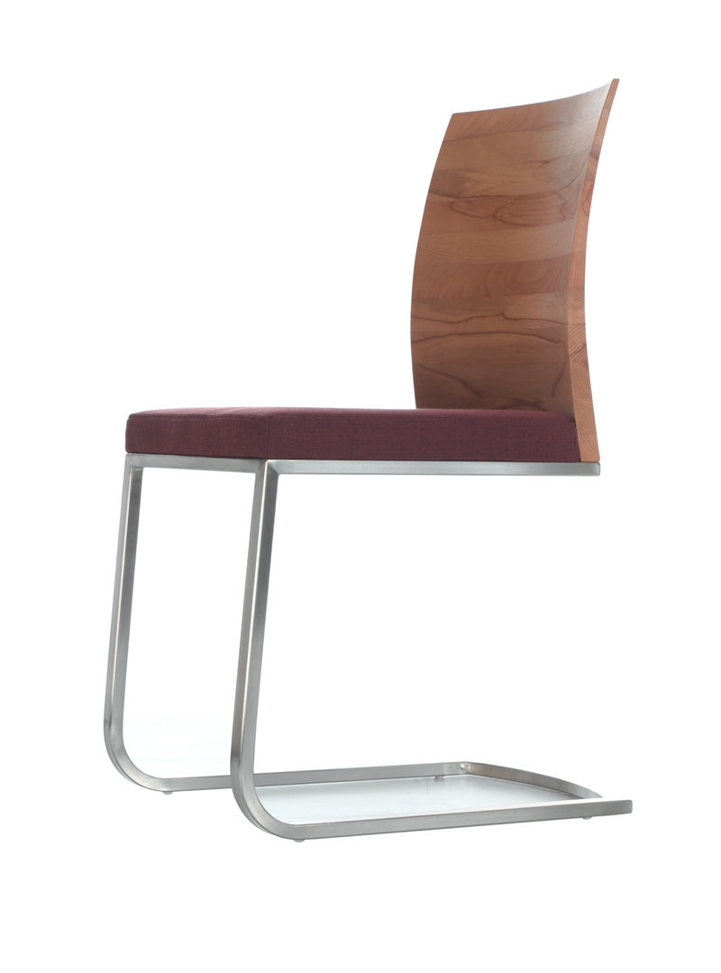 freischwinger r ckenlehne massivholz ledersitz. Black Bedroom Furniture Sets. Home Design Ideas