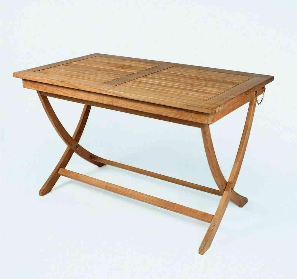 Gartentisch 120x70 H75cm Teak Casainnatura De Esstische Rund