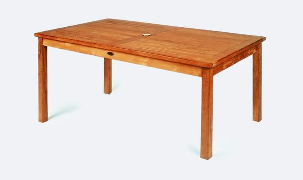 Gartentisch 90x90 H75cm Teak Casainnatura De Esstische Rund