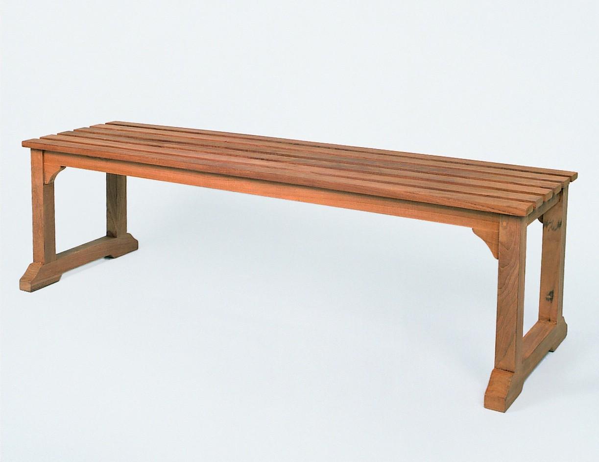 gartenbank ohne lehne 120cm teak esstische rund und ausziehbar. Black Bedroom Furniture Sets. Home Design Ideas
