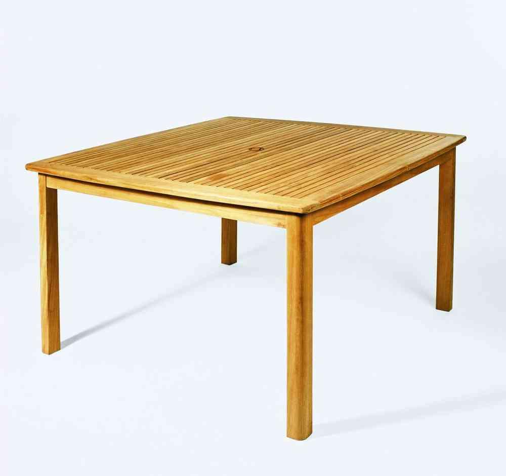Gartentisch 120x120 H75cm Teak Casainnatura De Esstische Rund