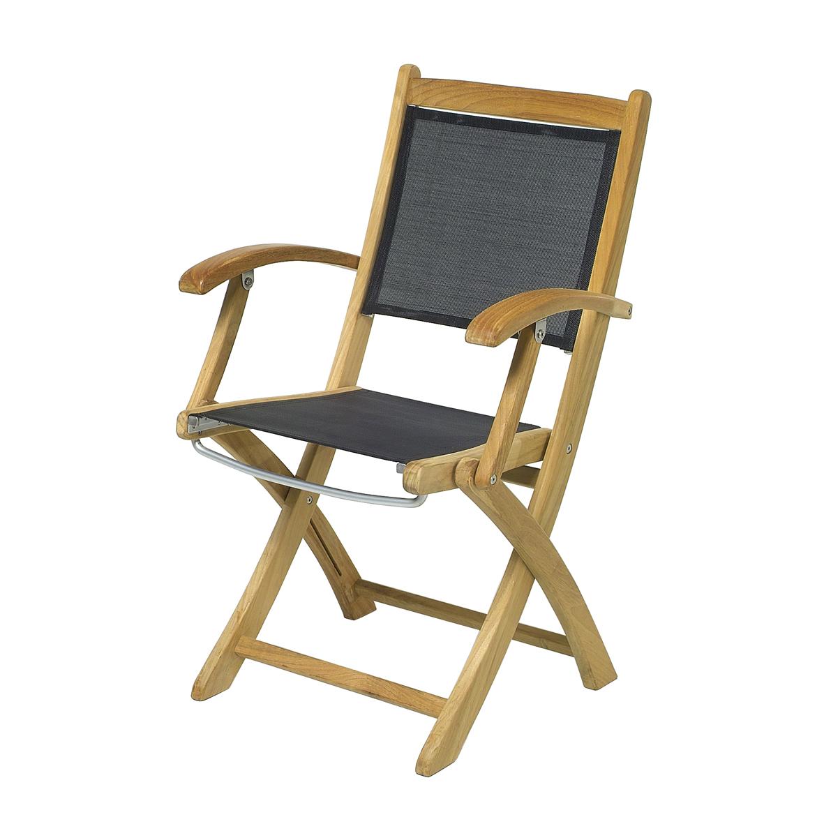 garten klappsessel mit armlehne teak. Black Bedroom Furniture Sets. Home Design Ideas