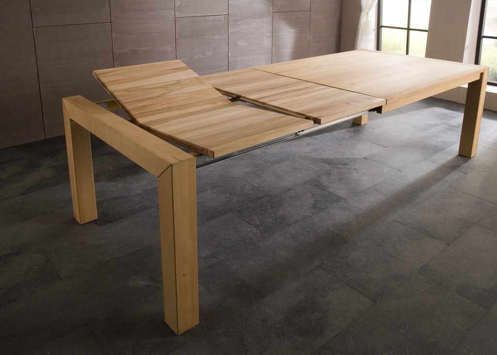 e tisch annabell buche ge lt ausziehbar esstische rund und ausziehbar. Black Bedroom Furniture Sets. Home Design Ideas