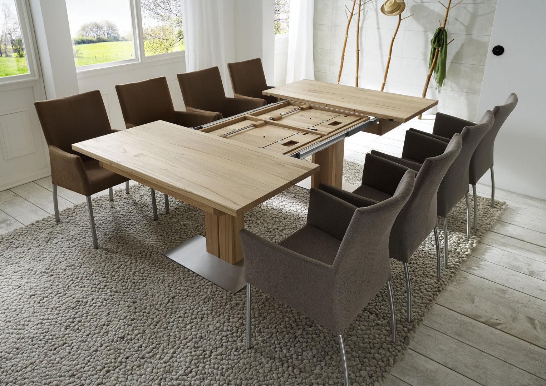e tisch simon in wildeiche quadratisch. Black Bedroom Furniture Sets. Home Design Ideas